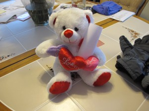 a bear with a note; see note text below