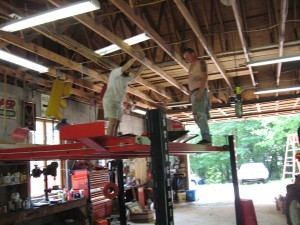 Brian & Psyco On The Lift