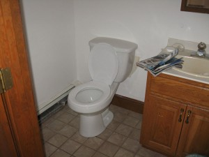 New Toilet In Half Bath