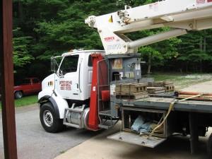 Big Truck With Crane