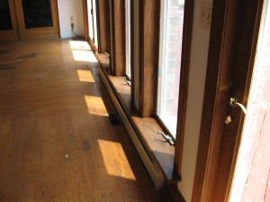 Restained Window Sills