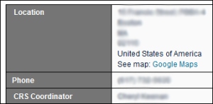 "The ""location"" and ""CRS coordinator"" were moved to the t h but there was a space before them which doesn't align"